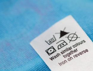Símbolos de lavagem nas etiquetas