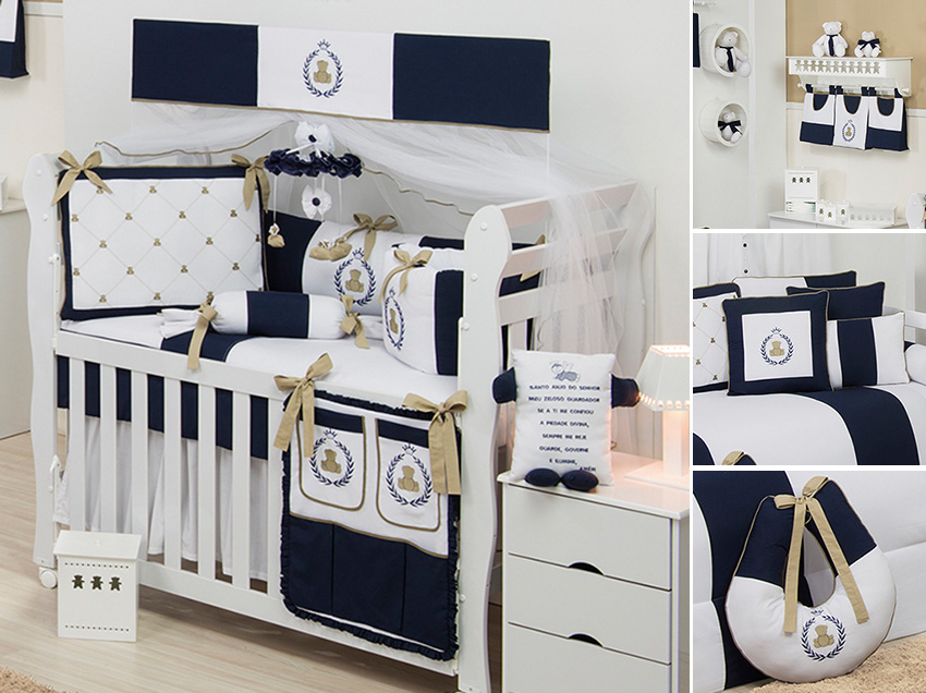 Quarto Casal Azul Marinho E Branco ~ Quarto de Menino  Quartos de Beb?