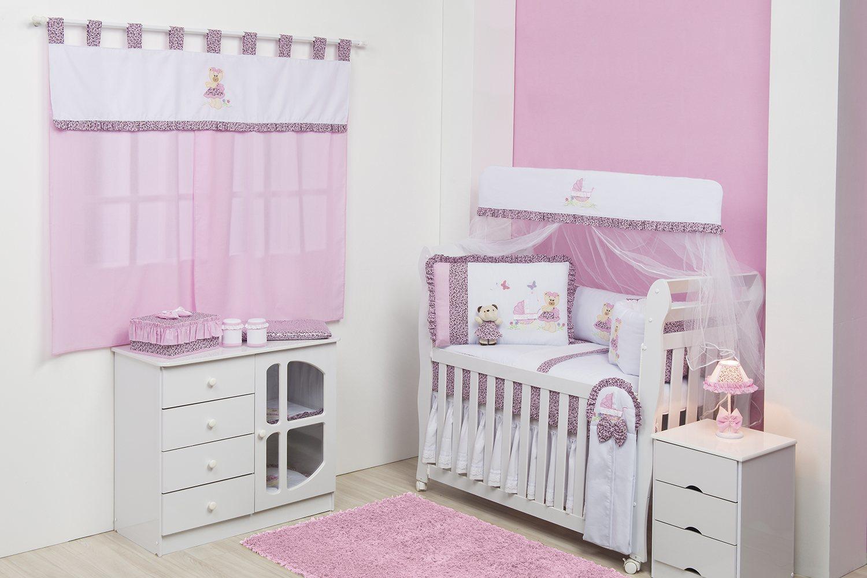 Quarto de bebê A decoração rosa que encanta as mamães