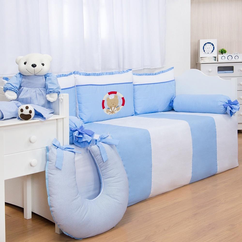 quarto de bebê marinheiro azul
