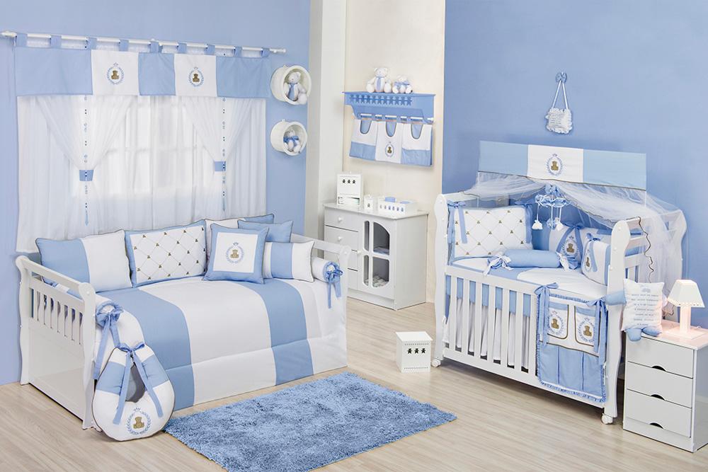 20170306005802 Quarto De Bebe Azul E Branco Simples  ~ Quarto Branco E Azul