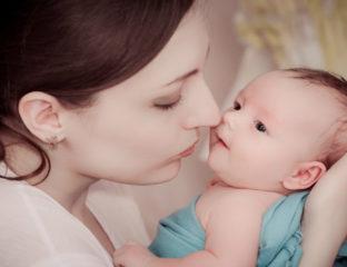 Não beije o rostinho do bebê