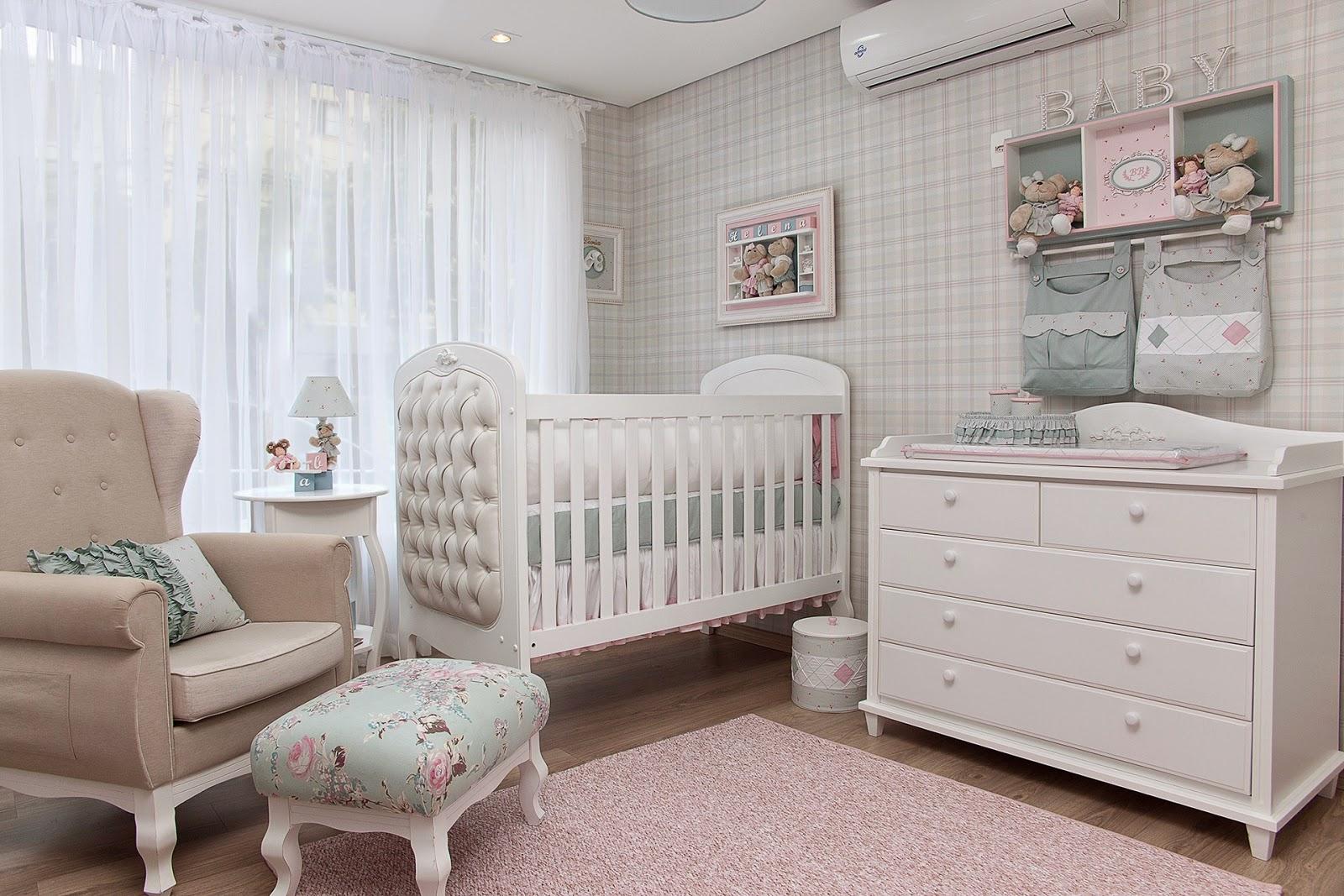 Passo A Passo Para Decorar O Quarto De Beb Dos Sonhos ~ Quarto Bebe Feminino Papel Parede