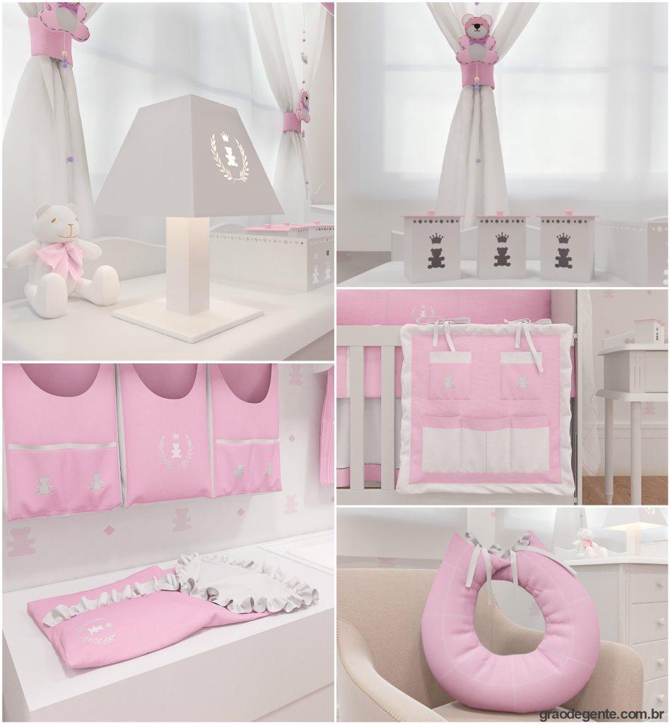 Detalhes coleção realeza rosa premium