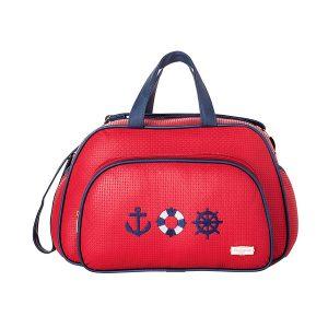 Bolsa G Maternidade Navy Vermelho (Ref: 63777)