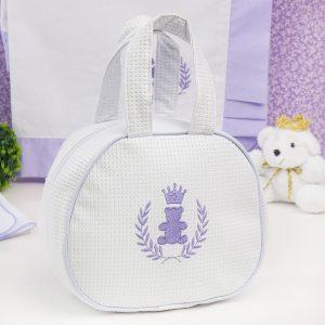 Bolsa Maternidade Realeza Branco e Lilás (Ref: 53303)