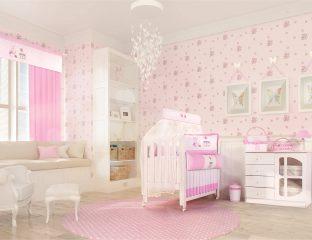 quarto de bebê com estilo romãntico
