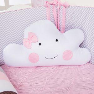kit berco com rolinho almofada de nuvem