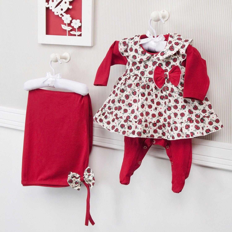 Saída Maternidade Joaninha Vermelho - Ref: 68161