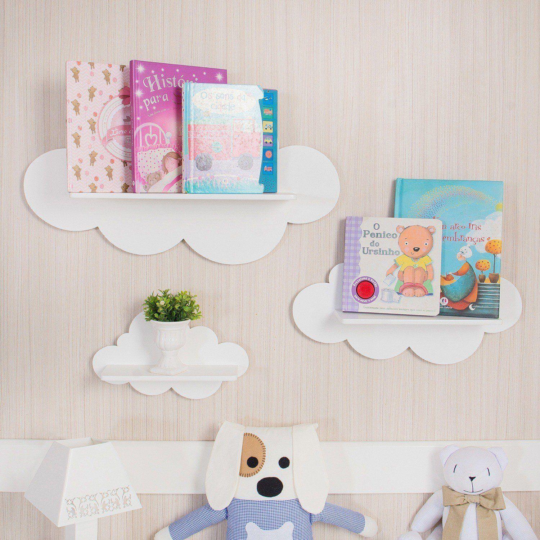 Prateleira Nuvem Deixa O Quarto De Beb Mais Bonito E Organizado ~ Decoração De Quarto Criativa E Decoração Quarto De Bebe