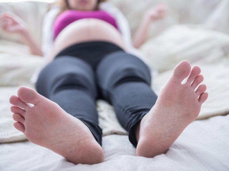 pés de grávida
