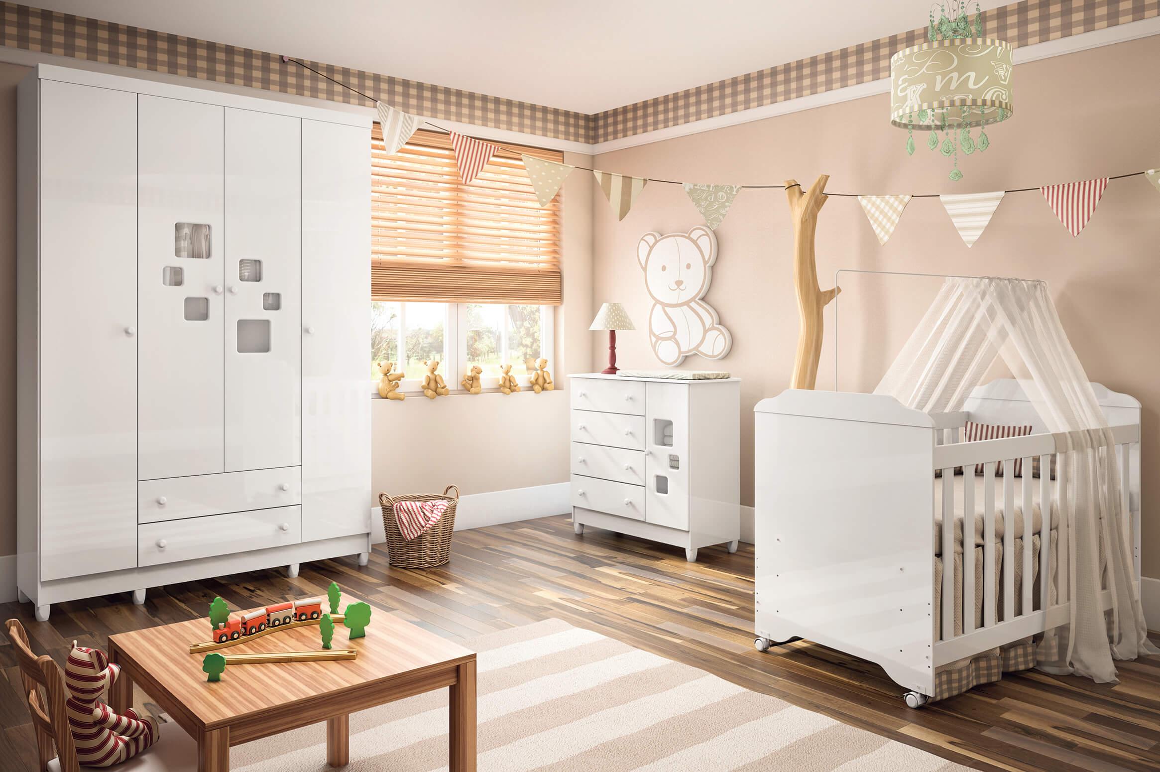 conjunto de móveis para bebê