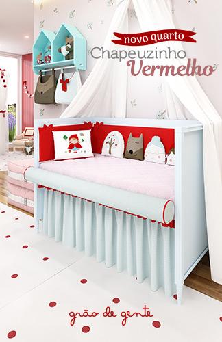 Novo quarto de bebê Chapeuzinho Vermelho - Grão de Gente