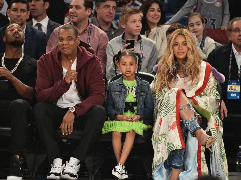 Jay-Z e Beyoncé com a filha Blue Ivy