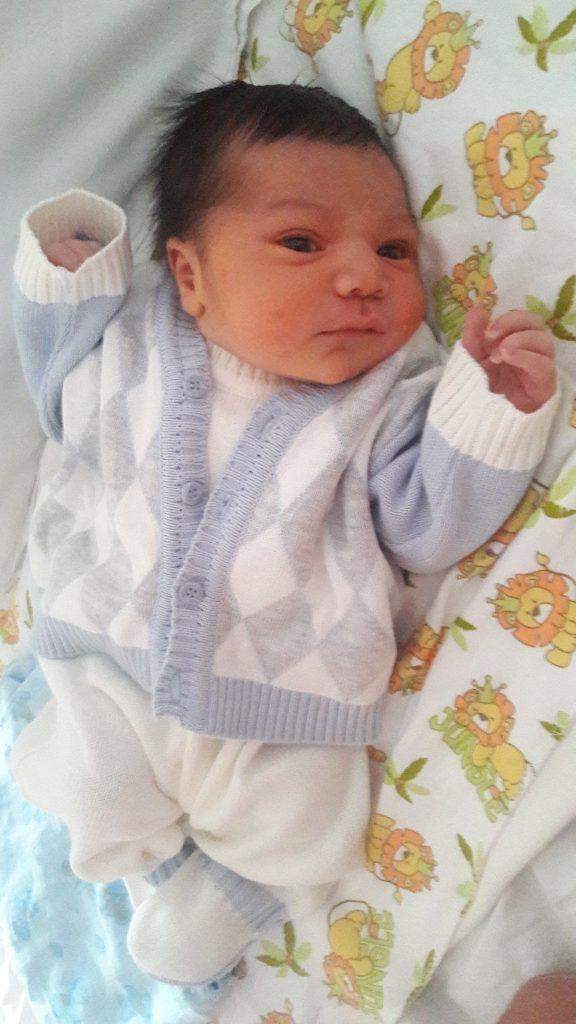 Relato de parto: Bernardo, filho da Maysa, recém nascido