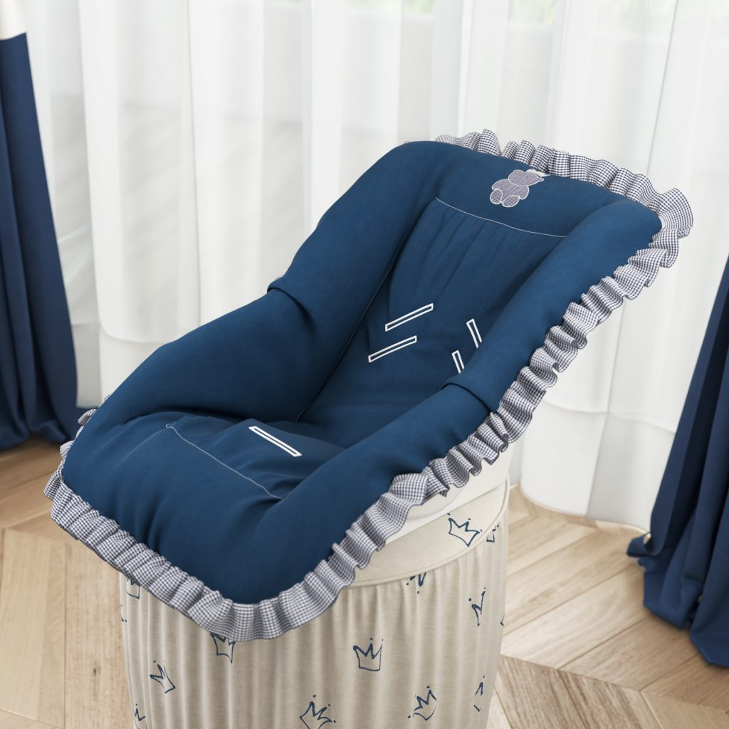 Capa para bebê conforto da coleção Ursinho Clássico Marinho