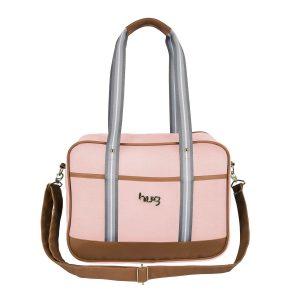 Diaper Bag: bolsa maternidade Hug Abraço Rosa
