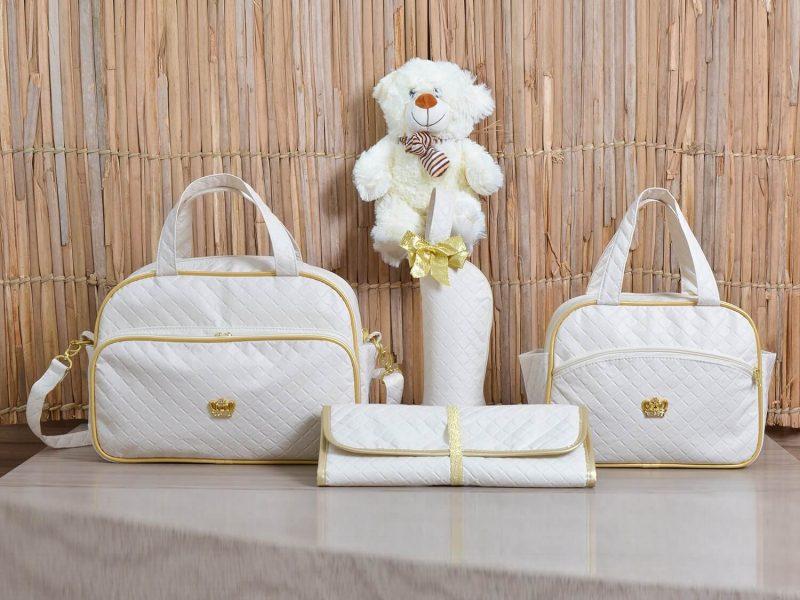 Bolsas em promoção: conjunto Realeza Marfim