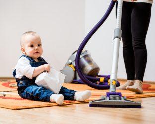 Organização do quarto de bebê: aspirador