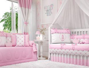 Quarto Ursinha Clássica Rosa - design