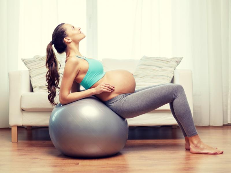 Dilatação: bola de pilates