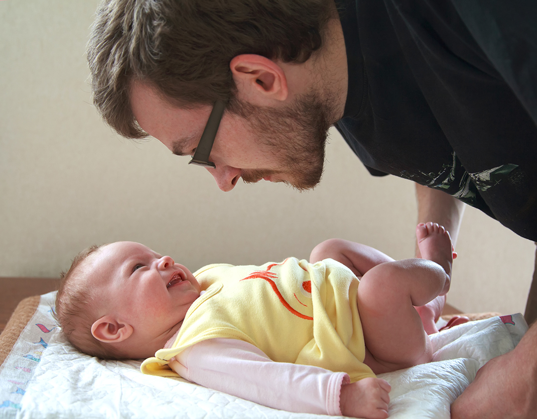 rotina do bebê dia dos pais