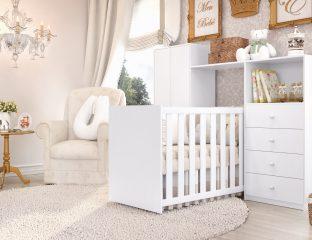 quarto de bebê clean e bianco