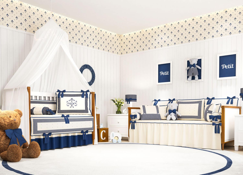 decoração xadrez Quarto de Bebê Petit Xadrez - Ref: 78801