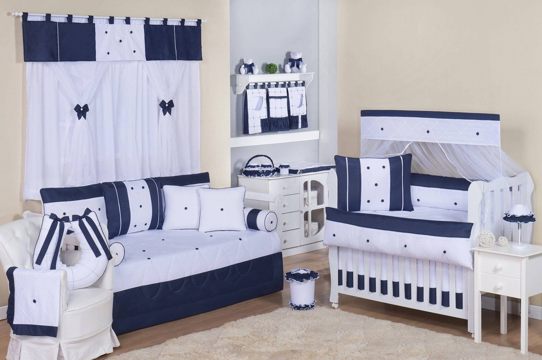 Top 10 Os Mais Lindos Quartos De Beb Azul Marinho Blog Gr O De  ~ Quarto Azul Marinho E Branco E Montar O Quarto Do Bebe