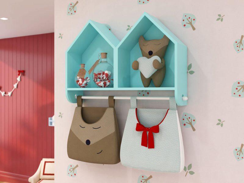 nicho casinha decoração de quarto de bebê