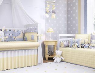 quarto de bebê unissex amiguinhos amarelo