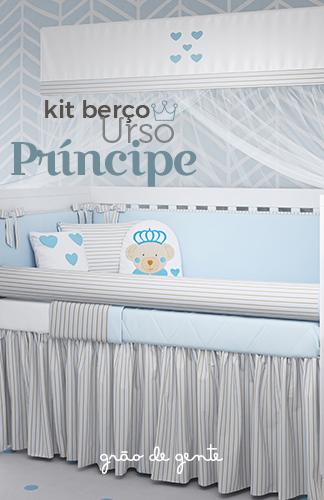 Novo Kit Berço Urso Príncipe - Grão de Gente