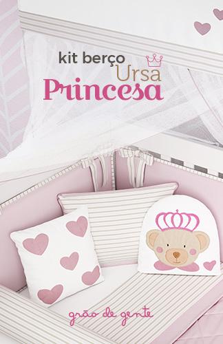 Novo Kit Berço Ursa Princesa - Grão de Gente