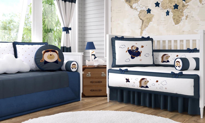 quarto de bebê urso aviador