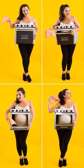 Pãozinho no forno - fantasias de halloween para grávidas