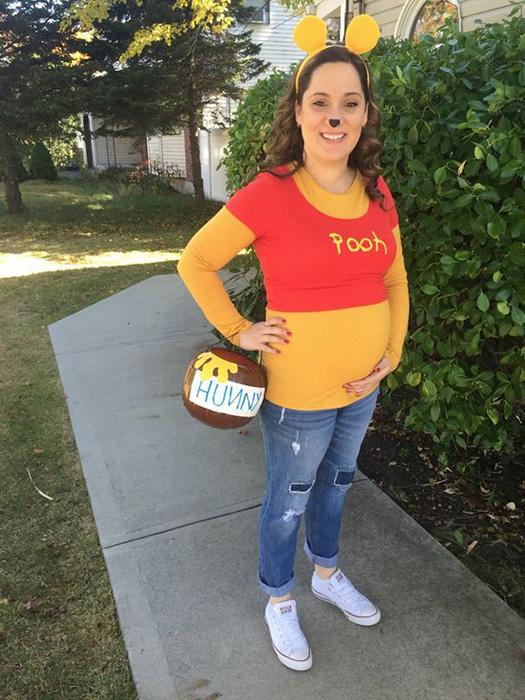 Ursinho Pooh - fantasias de halloween para grávidas