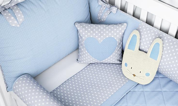 kit berço coelhinho azul