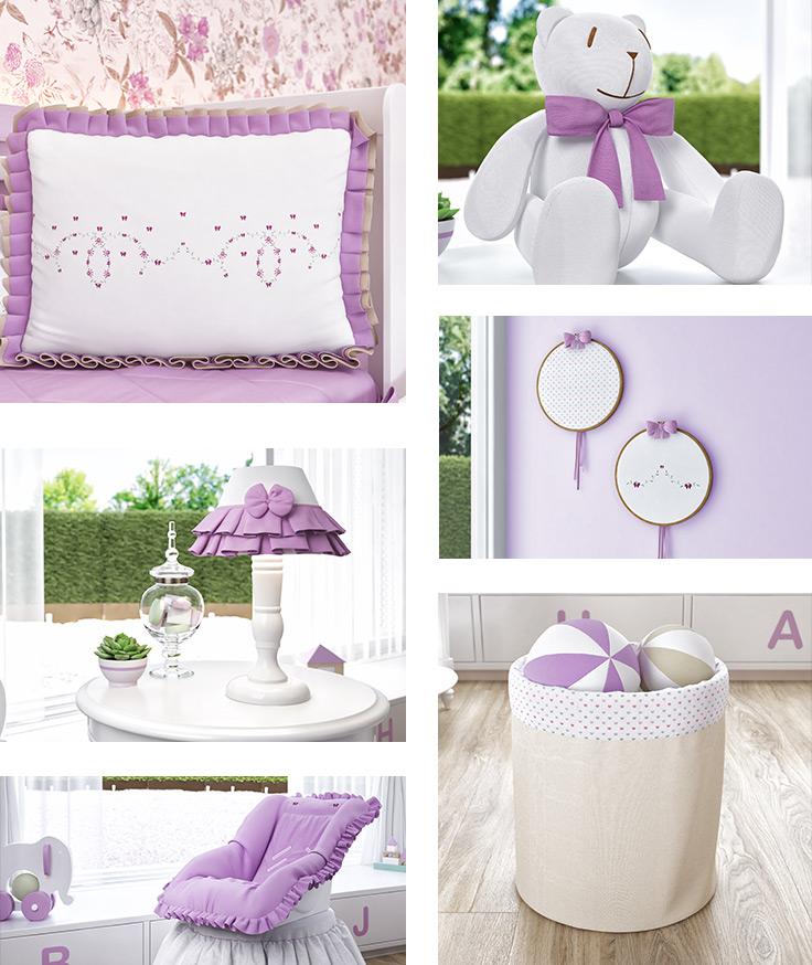 quarto de bebê lilás - pantone ultravioleta 2018