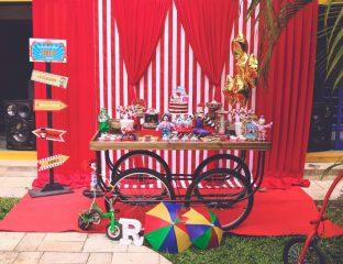 chá de bebê com tema circo