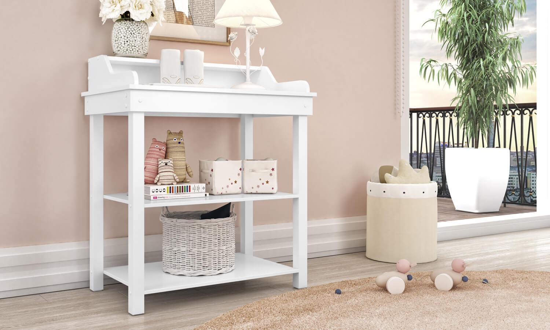 mesa de apoio para quarto de bebê