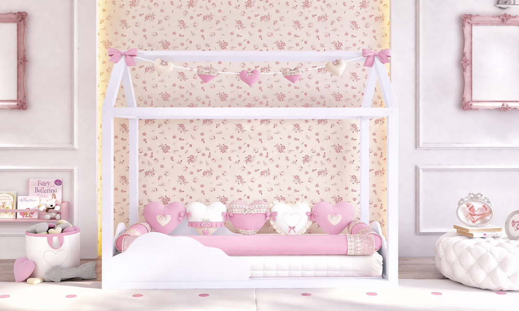 cama casinha montessoriana nuvem