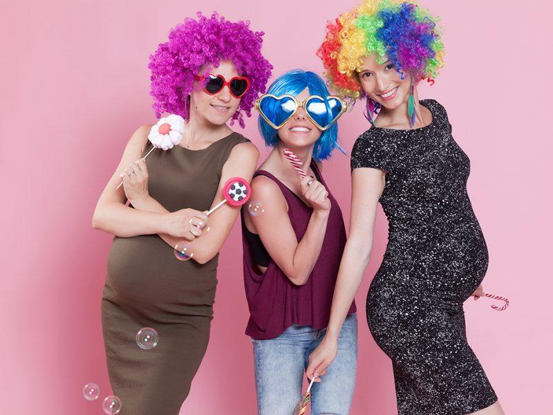 grávida no carnaval