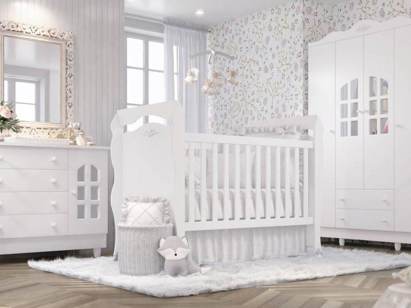 Grão de Gente inovou mais uma vez e apresenta o Quarto de Bebê Julie Provençal. Com um berço minicama 3 em 1, uma cômoda fraldário e um amplo guarda-roupa, a coleção une o luxo do estilo clássico com a funcionalidade que as famílias atuais precisam para o quarto do bebê.