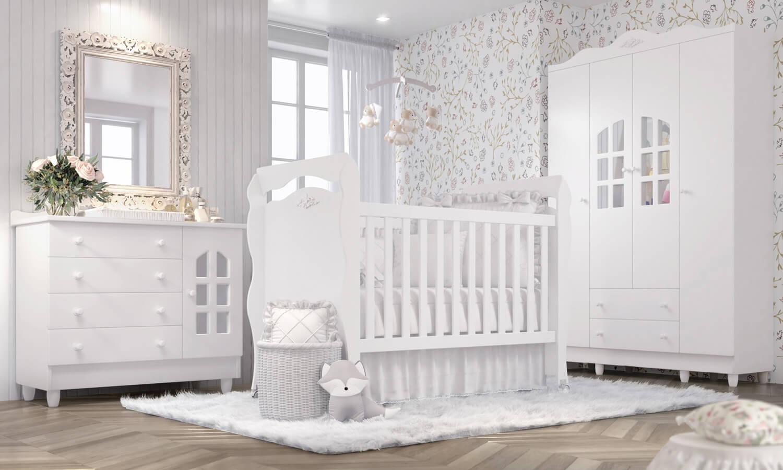 Quarto De Beb Julie Proven Al Traz Qualidade E Sofistica O ~ Quarto Do Bebe Menina Com Quarto De Bebe De Luxo
