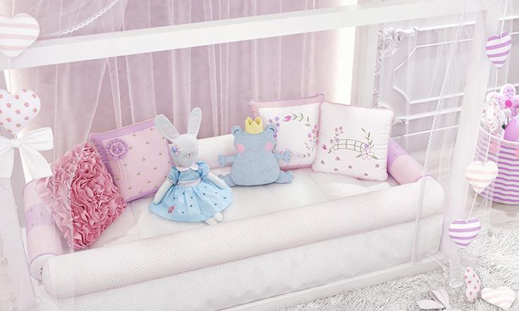 quarto de bebê floral monet