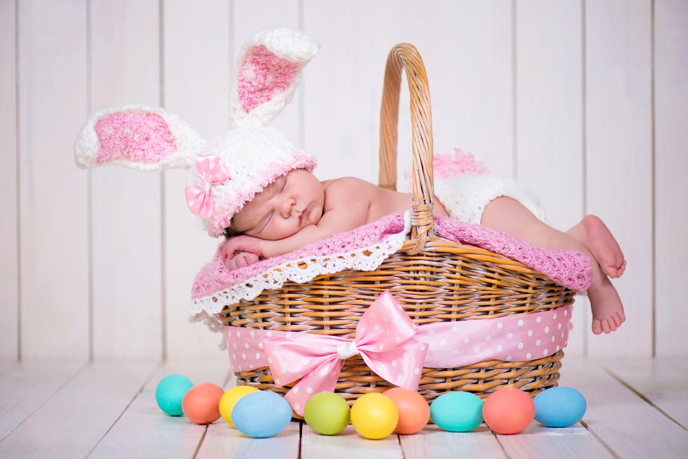 ensaio newborn de páscoa