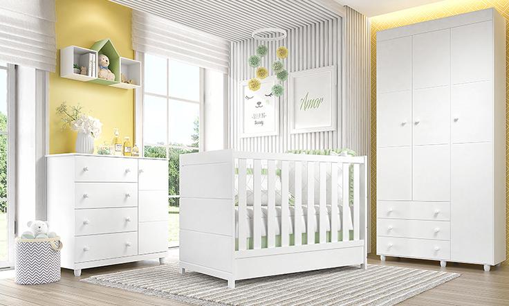 móveis para quarto de bebê premier