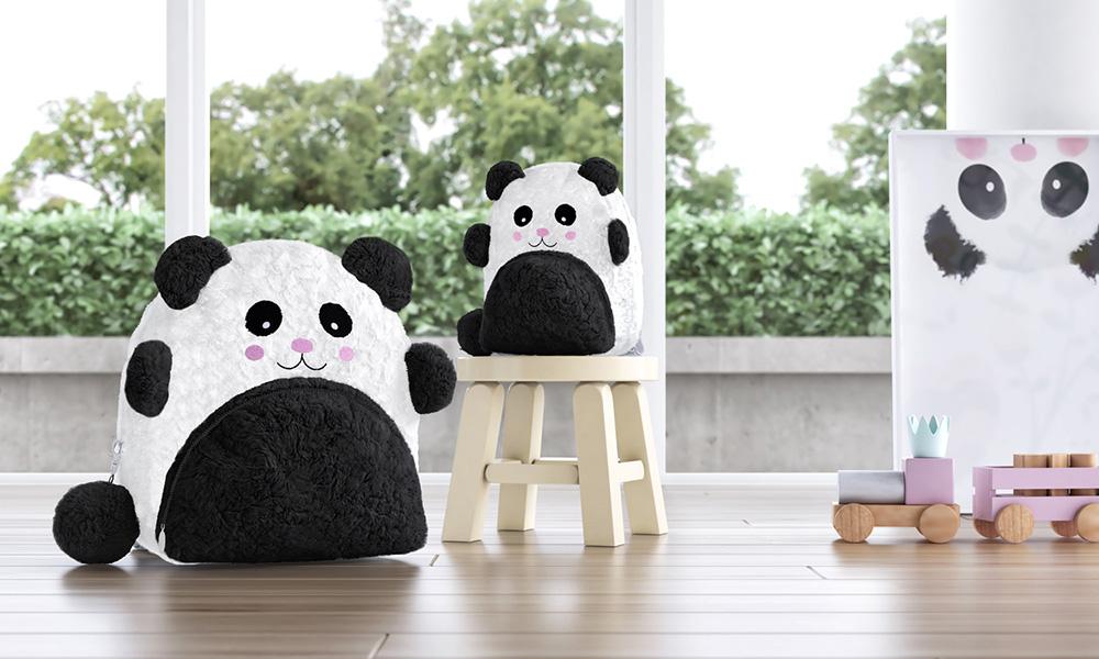mochila infantil panda