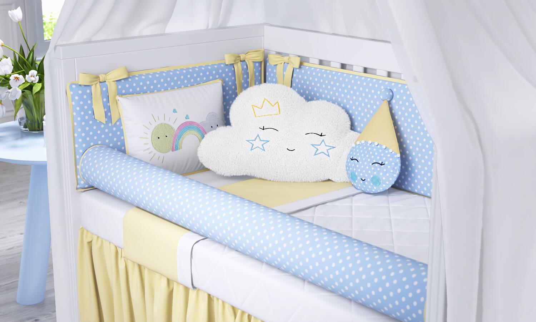 Almofadas Nuvem Azul 3 Peças