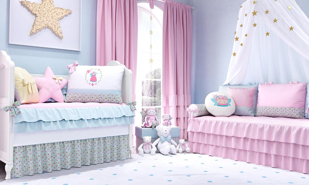 quarto azul de menina